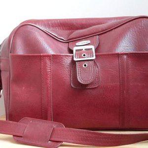Vintage Jet Stream Burgundy Travel Bag Luggage.